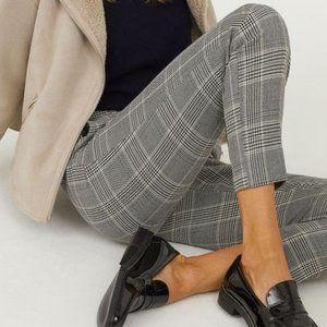 H&M checkered Black & White Pants size 6